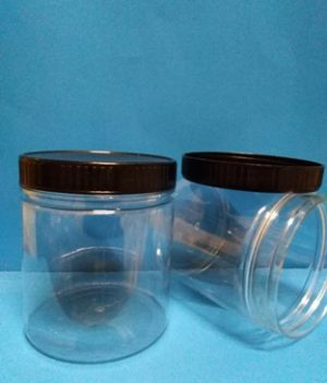 300ml Plastic Jar With Black Cap